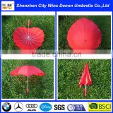 heart shaped bright colored umbrella