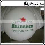 Custom printed ad floating balloon, large inflatable helium balloon for beer promotional