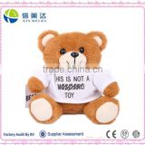Custom Plush teddy bear mobile charger toy with USB                                                                         Quality Choice