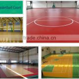 Indoor Usage and UV Surface Treatment vinyl badminton flooring