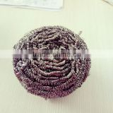 Household items stainless steel spiral scourer round dish brush stainless steel scrubber