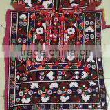 Beautiful Multi color handmade Vintage Banjara mirror work dress Kutchi Indian Tribal embroidery