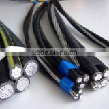 ABC cable rated low voltage XLPE insulated aluminium 4 core conductor overhead aerial electric power cables