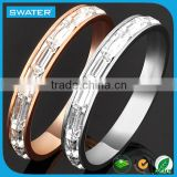 New Fashion Stainless Steel Pave Zircon Ring