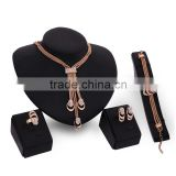 Dubai Statement Jewelry Sets Snake Chain Long Tassel Gold Rose Gold Filled Costume Jewelry Sets