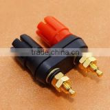 Gold plate audio speaker terminal Amplifier Terminal Dual 4mm Binding Post Banana Plug Jack connector Black Red