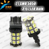 2014 Factory price Xenon Crystal White 6000K 3157 5050 27 SMD LED Bulb- Signal Brake Back Up Reverse 3157 led car light