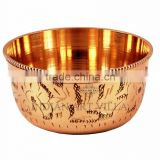 IndianArtVilla Handmade Designer Flat Bottom Bowl 100 ML - Serving Decorative Tableware Home Hotel Restaurant Gift Item