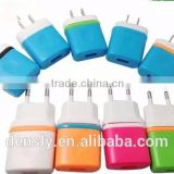 Colorful US/EU Plug one port USB mobile phone AC wall charger power adapter For Apple iPhone 5 5s Samsung Series