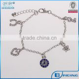 New evil eye heart star small pendant health silver chain bracelet jewelry alibaba wholesale