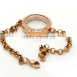 Wholesale Jewelry Fashion Rose Gold cage locket pendants