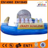 commercial giant pvc inflatable sports games inflatable bowling alley,bowling alley for sale china