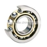 Long life self-aligning ball bearing with ball bearing swivel plate and machine tool spindle bearing
