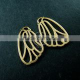 16x26mm 14K light gold plated filigree butterfly wing DIY pendant charm 1850188