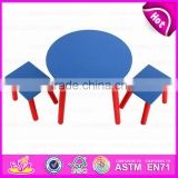 2015 New wooden table set for kids,Popular wooden toy table set for children,High quality Wooden Table and 2 Chairs WO8G137
