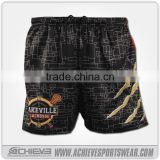Latest Design Sublimation Breathable Rugby League Playing Short Customized Rugby Training Shorts