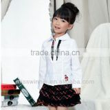 Girl Clothing Sets 2 piece Blouse +skirt for teen girl OEM Guangzhou manufacturers China Children kid apparel