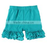 2017 children shorts teen short children stylish designer short deep blue ruffle icing shorts