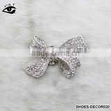 Fashion Classical Bow Tie Shaped Crystal Rhinestone Ornament Accessories with metal clip for high heel shoe wedding shoes