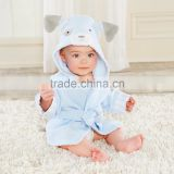 Baby Hooded Cotton Velour Custom Design Beach Towels&Children Absorbency Terry Bathrobes
