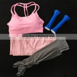 Workout Running Pants Women Yoga Wear Outfit Cross Back Sports Bra With Candy Color Block Stretch Leggings Active Yoga Set