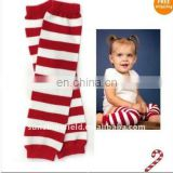 Stock! Baby Leg Warmers For Christmas Red White Stripe Leg Warmer Holiday Baby Gifts