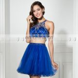 Wholesale Two-Piece Royal Blue Tulle Short Cocktail Dress Cocktail Dresses LX337