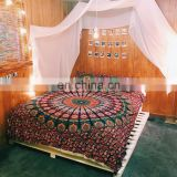 Indian mandala Bed sheet cover, bed sheet pillow cases, bohemian bed set roundie mandala duvet cover & sheet bed cover Ethnic