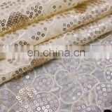 Tokay lace iridescent crystal organza lace fabric