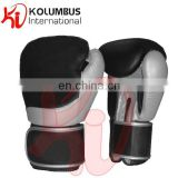 Genuine Leather Boxing Gloves, Black And Silver Grey Sparring Boxing Gloves, Customized Boxing Gloves All Sizes Available