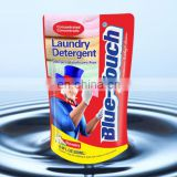 Wholesale new design Blue-Touch self standing plastic laundry detergent liquid packaging bag