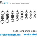 ball bearing swivel with welded ring-terminal tackle-fishing tackle