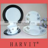 Black And White Flower Pattern Decorative Cookware Dinner Set Alibaba Wholesale