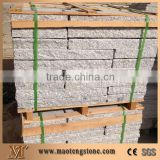 G603 Granite Garden Stone Pillars/China Sesame White Grey Granite Palisade Landscaping Stone