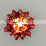 Holiday Shiny LED lighting Star Bow and PET Ribbon Celebration Party Times