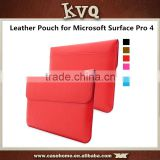 New Fashion Slim PU Leather Pouch Cover for Microsoft Surface Pro 4 leather bag