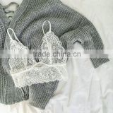 F10158A wholesale Lady Lace Unlined Bralette Tops white lace vest crop tops                                                                         Quality Choice