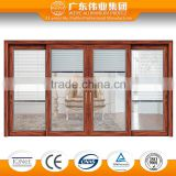 2016 New aluminum alloy wood color frames glass sliding doors                                                                                                         Supplier's Choice