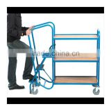 Steel Durable platform carry trolly for logistis equipment