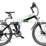 Sports electric bicycle full suspension
