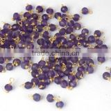 AAA Beautiful Natural 24k Gold Plated Amethyst Loose Gemstone Beads Bead 3-4mm Wire Wrapped semiprecious beads