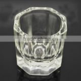 Crystal Nail art liquid Small Glass Container 3.9cmW x4cmH