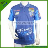 Quick dry men's racing polo shirt China manufactory