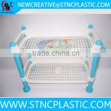factory price 2 tier kitchen corner shelf plastic