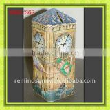 London Style Clock tower Tin Money box