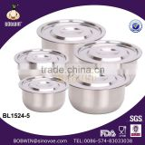14/18/22/26/30CM Stainless Steel Rice Pot Set