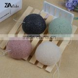 Private label green tea 100% natural facial activated charcoal konjac sponge
