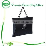 New Arrived decorative handmade printing balck pillow packaging boxes, kraft paper gift box with twisted handle