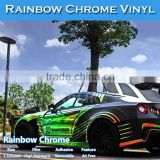 CARLIKE Colorful Sticker Chrome Rainbow Holographic Car Vinyl Wrap