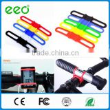 Silicone Phone Cycling Torch Flashlight Holder Bike Bicycle Light Straps Flexible Light Holder